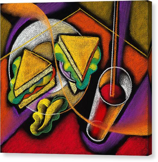 Sandwich Canvas Print - Lunch by Leon Zernitsky