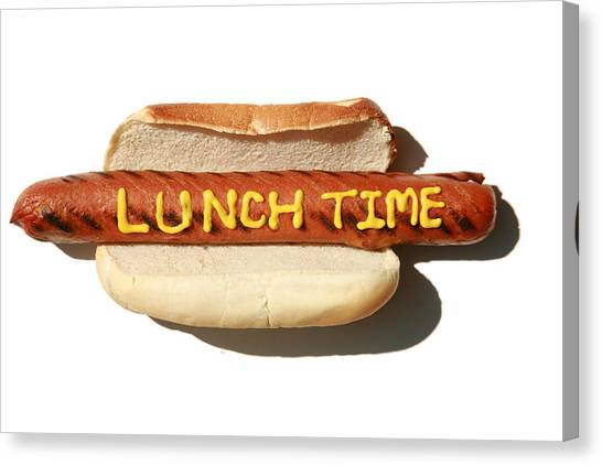 Hotdogs Canvas Print - Lunch Time by Michael Ledray