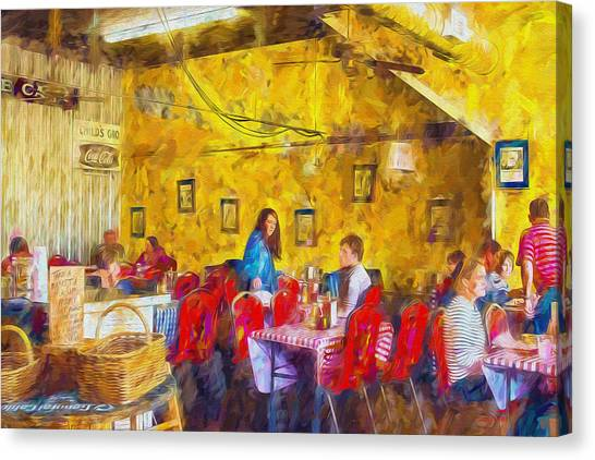Lunchtime - Country Cafe Canvas Print by Barry Jones