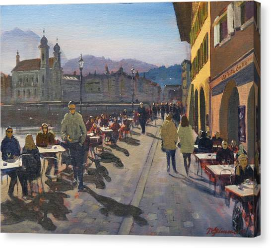 Lunchtime In Luzern Canvas Print