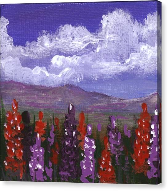 Canvas Print featuring the painting Lupine Land #3 by Anastasiya Malakhova