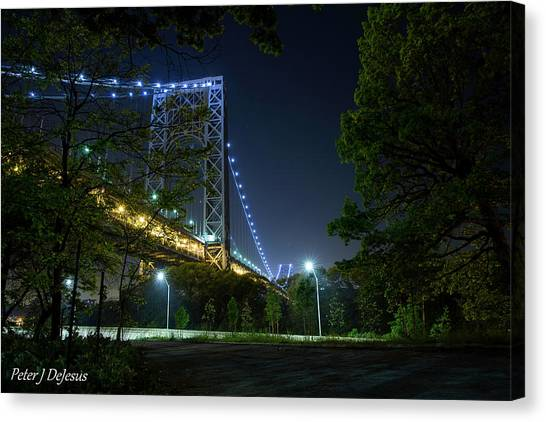 George Washington Canvas Print - Lurking In The Shadows - George Washington Bridge by Peter J DeJesus