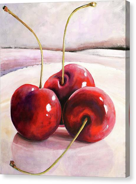 Cherries Canvas Print - Luscious Cherries by Toni Grote