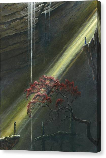 Canvas Print featuring the painting Luthien Finds Beren by Kip Rasmussen
