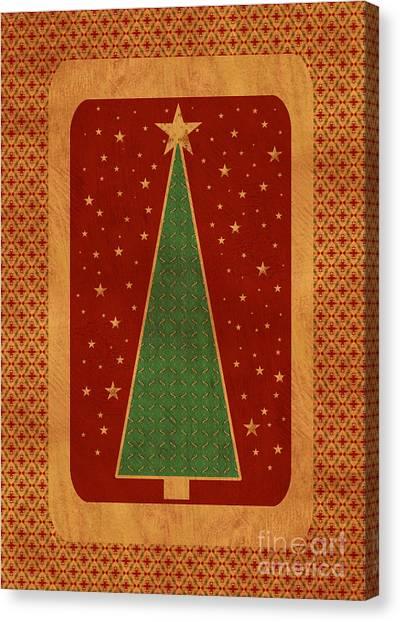 Luxurious Christmas Card Canvas Print