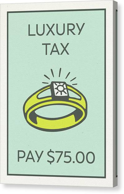 Taxes Canvas Print - Luxury Tax Vintage Monopoly Board Game Theme Card by Design Turnpike