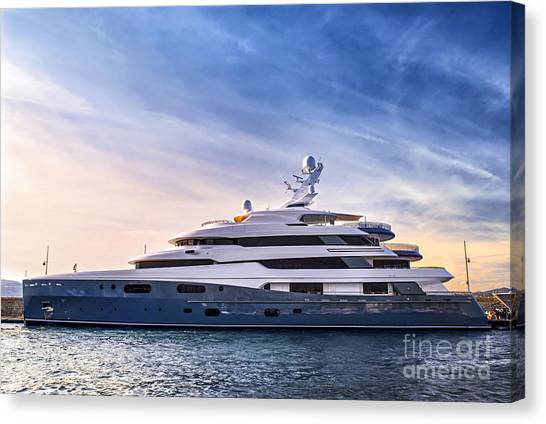 Cruise Ships Canvas Print - Luxury Yacht by Elena Elisseeva