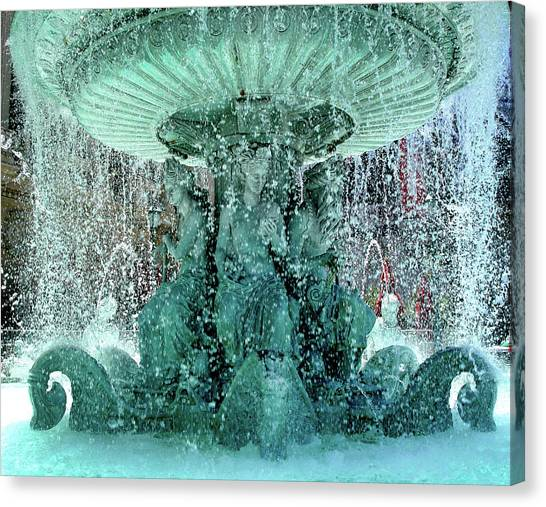 Lv Fountain Canvas Print