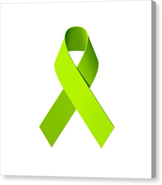 Ticks Canvas Print - Lyme Disease Awareness Ribbon  by Laura Michelle Corbin