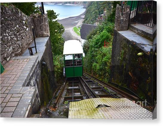 Cliffs Canvas Print - Lynton And Lynmouth Cliff Railway by Smart Aviation