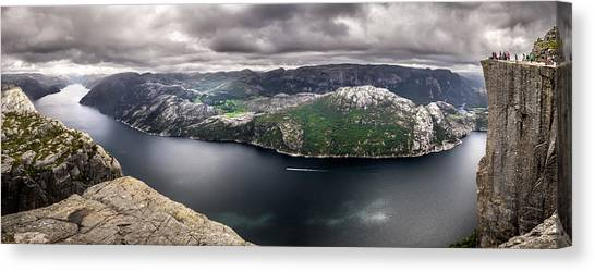 Preikestolen Canvas Print - Lysefjord - Norway - Landscape, Travel Photography by Giuseppe Milo