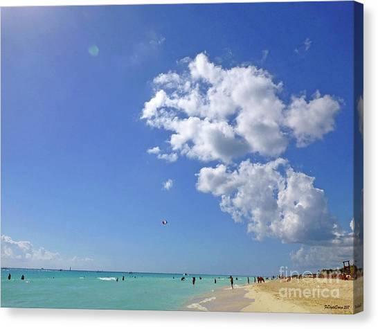 Canvas Print - M Day At The Beach 2 by Francesca Mackenney