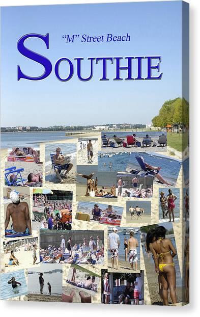 M Street Beach  Southie Canvas Print
