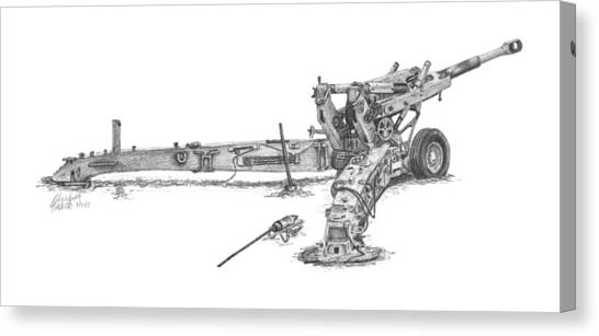 M198 Howitzer - Natural Sized Prints Canvas Print