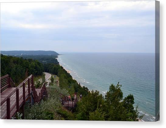 M22 Scenic Lake Michigan Overlook  Canvas Print