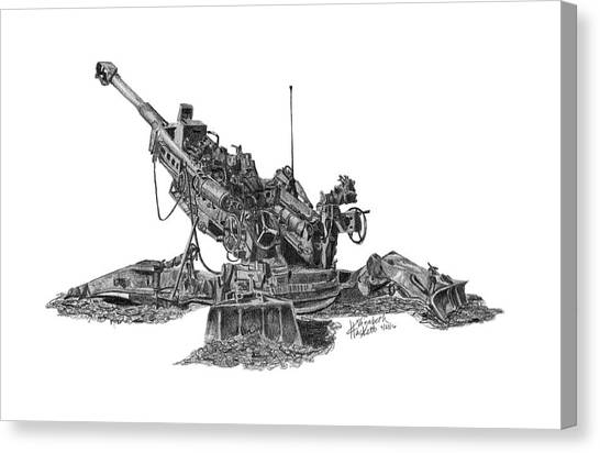 M777a1 Howitzer Canvas Print