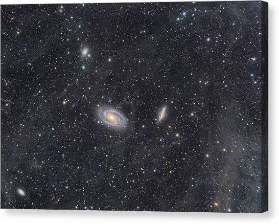 M81 And M82 Widefield Canvas Print