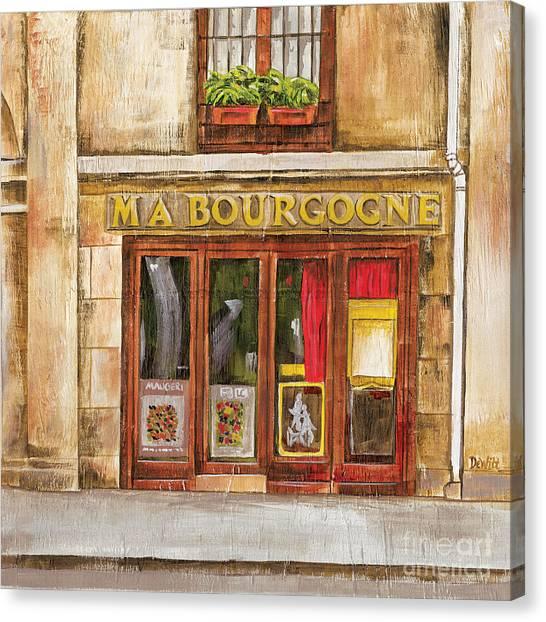 Bistros Canvas Print - Ma Bourgogne by Debbie DeWitt