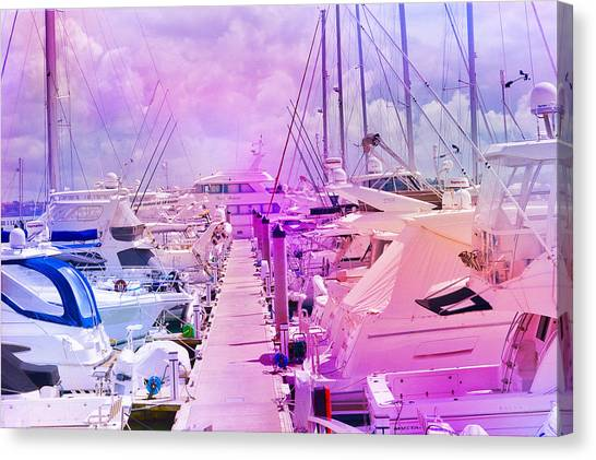 Marina In The Morning Glow Canvas Print