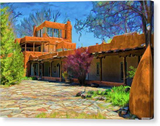 Dennis Hopper Canvas Print - Mabel's Courtyard As Oil by Charles Muhle