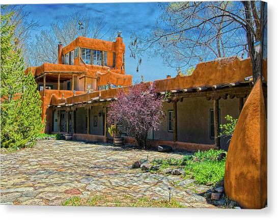 Dennis Hopper Canvas Print - Mabel's Courtyard by Charles Muhle