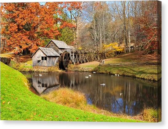 Mabry Mill Canvas Print - Mabry Mill by Edwin Verin