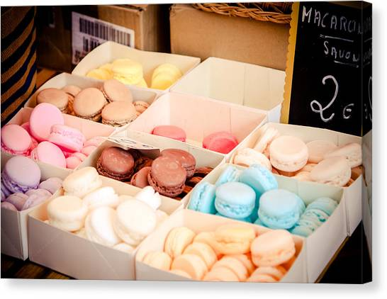 Canvas Print featuring the photograph Macaroooons by Jason Smith