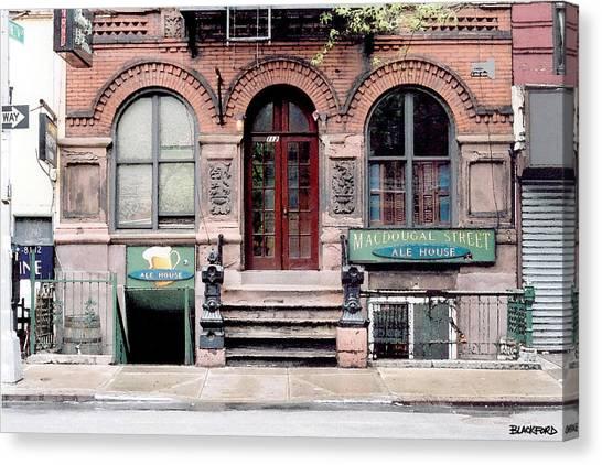 Macdougal Street Ale House Canvas Print by Al Blackford
