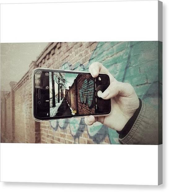 Graffiti Canvas Print - Mach Dir Selbst Ein by Mandy Tabatt