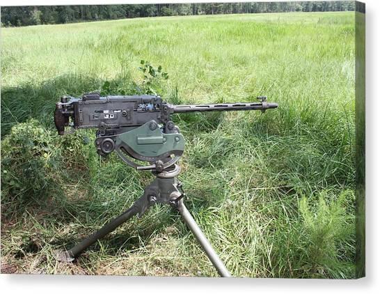 Rifles Canvas Print - Machine Gun by Maye Loeser