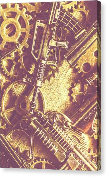 Fighting Canvas Print - Machine Guns by Jorgo Photography - Wall Art Gallery