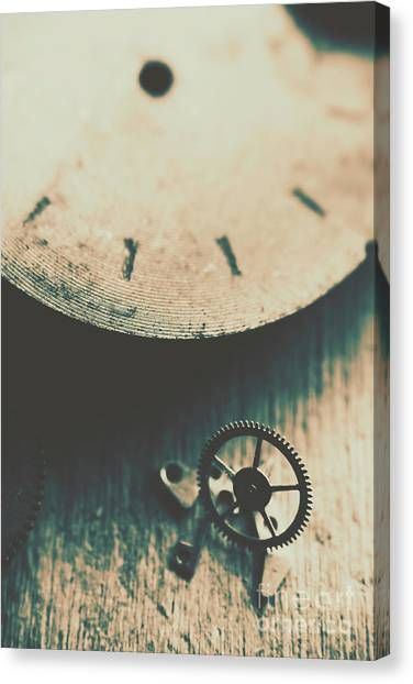 Brass Instruments Canvas Print - Machine Time by Jorgo Photography - Wall Art Gallery