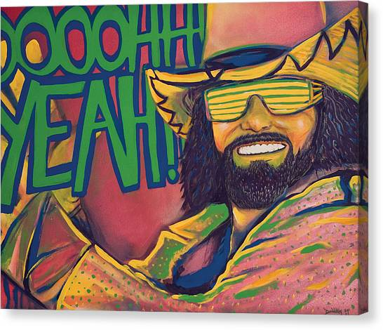 Wwe Canvas Print - Macho Man by Derek Donnelly