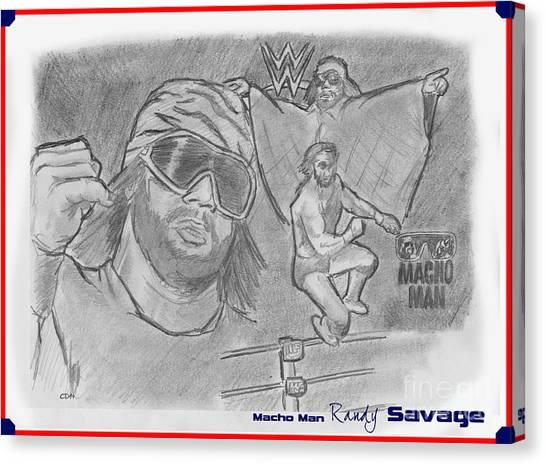 Randy Savage Canvas Print - Macho Man Randy Savage by Chris  DelVecchio