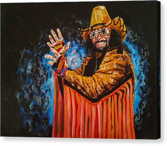 Wwe Canvas Print - Macho Man Randy Savage by Joel Tesch