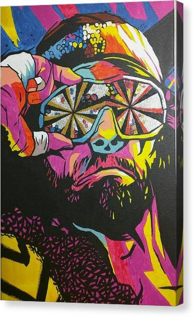 Wwe Canvas Print - Macho Man Randy Savage by Ralph Rivera