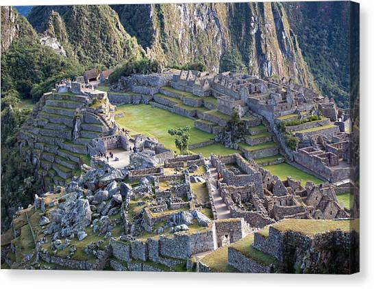 Machu Picchu Inca Ruins Canvas Print