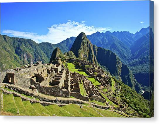 Mountain Ranges Canvas Print - Machu Picchu by Kelly Cheng Travel Photography
