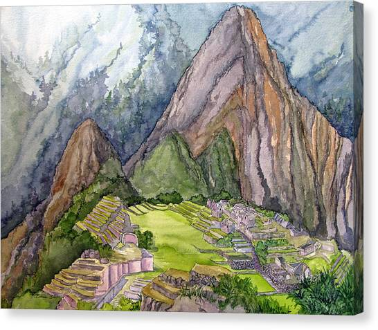 Peruvian Canvas Print - Machu Picchu The Lost City Of The Incas by Bonnie Sue Schwartz