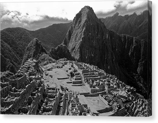 Peruvian Canvas Print - Machu Pichu - Peru by John Battaglino