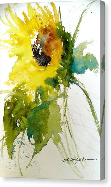 Maci's Sunflower Canvas Print