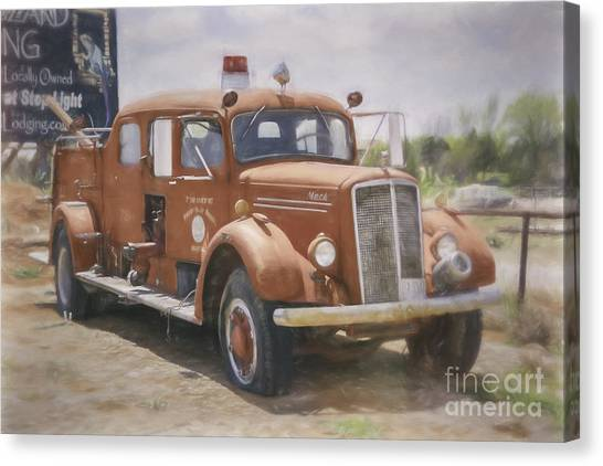 Mack Fire Truck  Canvas Print