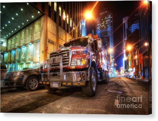 Mack Truck Nyc Canvas Print