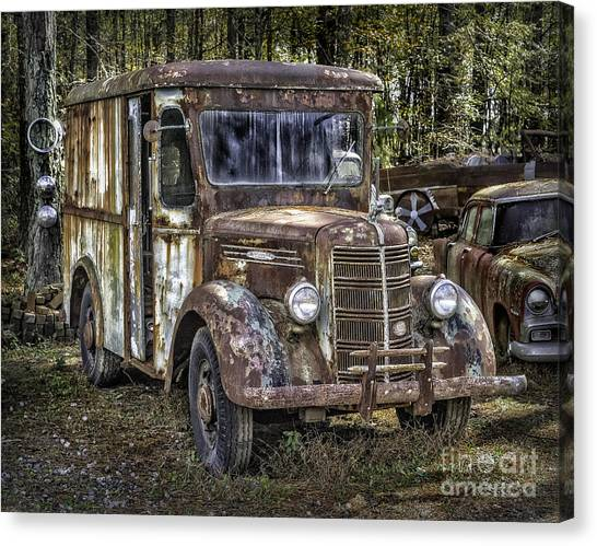 Very Old Mack Truck Canvas Print