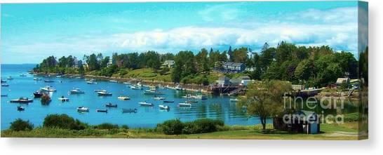 Mackerel Cove On Bailey Island Canvas Print