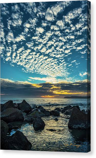 Canvas Print featuring the photograph Mackerel Sky by Dan McGeorge