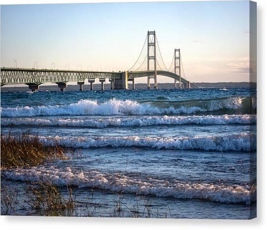 Mackinac Bridge Michigan Canvas Print