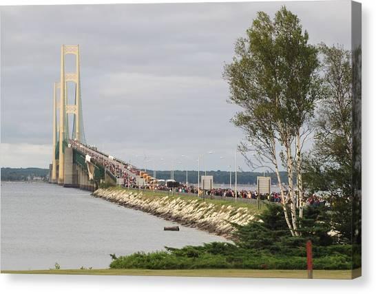 Mackinac Bridge Walk Canvas Print