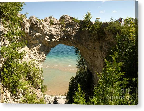 Mackinac Island Arch Canvas Print