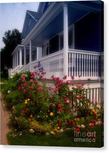 Mackinac Island Victorian Wildflower Garden Canvas Print